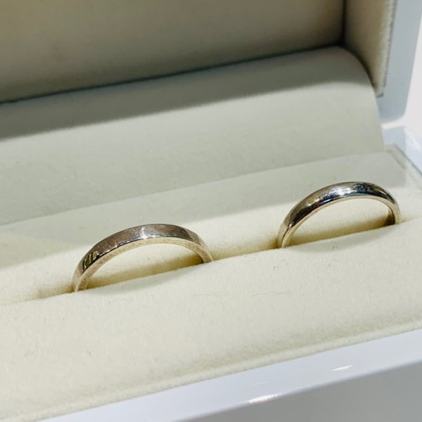 手作り結婚指輪平打ち&甲丸