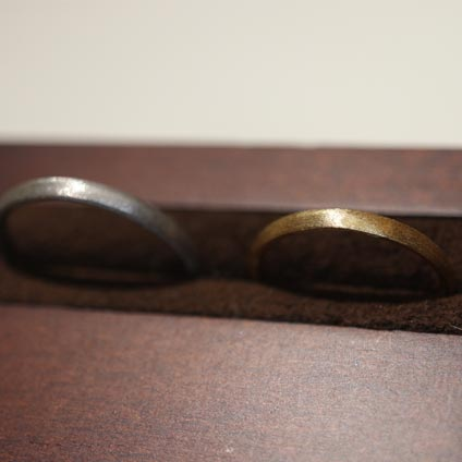 手作り結婚指輪マットデザイン
