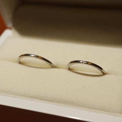 手作り結婚指輪シンプルプラチナ